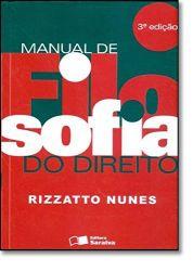 MANUAL DE FILOSOFIA DO DIREITO (PRODUTO USADO - MUITO BOM)