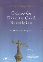 CURSO DE DIREITO CIVIL BRASILEIRO VOL 8 DIREITO DE EMPRESA (PRODUTO USADO - BOM)