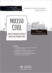 PROCESSO CIVIL PARA OS CONCURSOS DE TECNICOS E ANALISTAS DOS TRIBUNAIS E MPU (PRODUTO USADO - BOM)