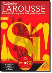 MINIDICIONARIO LAROUSSE ESPANHOL PORTUGUES COM CD NA CAIXA (PRODUTO USADO - MUITO BOM)