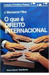 O QUE E DIREITO INTERNACIONAL - COLEÇAO PRIMEIROS PASSOS 72 (PRODUTO USADO - BOM)