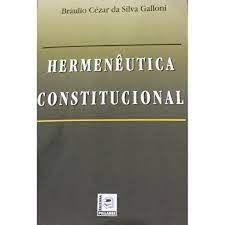 HERMENEUTICA CONSTITUCIONAL (PRODUTO USADO - BOM)