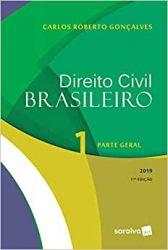 DIREITO CIVIL BRASILEIRO VOL 1 PARTE GERAL (PRODUTO USADO - MUITO BOM)