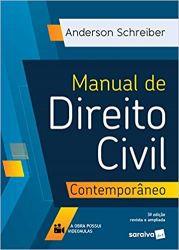 MANUAL DE DIREITO CIVIL CONTEMPORANEO (PRODUTO USADO - MUITO BOM)